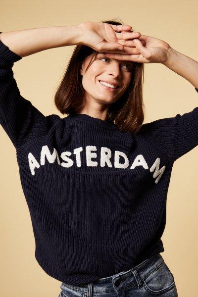 10 days sweater Amsterdam dark grey blue