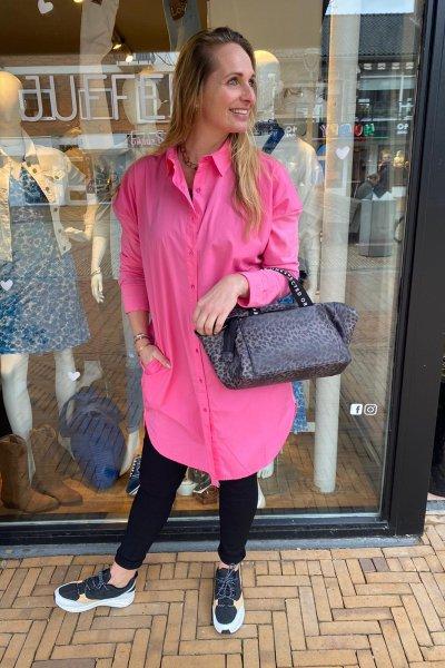 10 Days shirt dress candy pink 20-402-1201