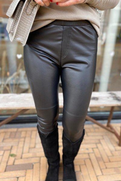 Penn & Ink broek/legging Black W20F827
