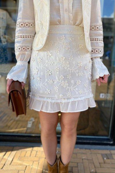 Fabienne Chapot Flower frill skirt CLT-132-SKI-SS21