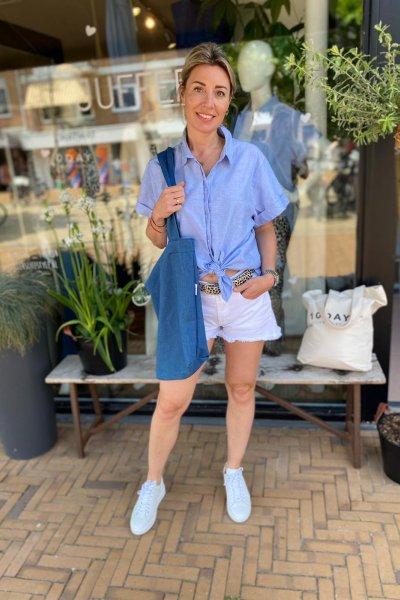 10 days blouse Classic blue 20-400-1203