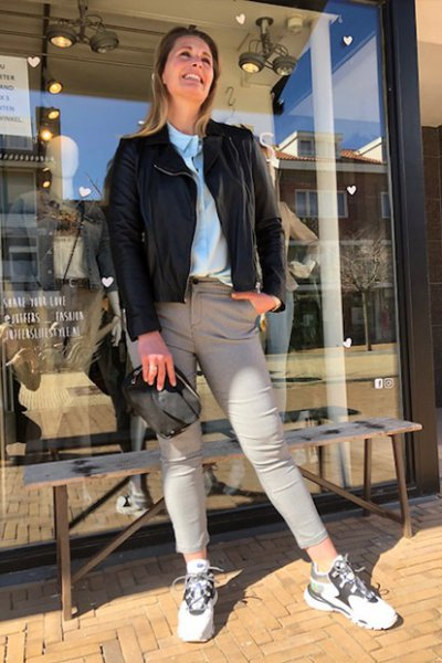 New Carma 7/8 pants black/white