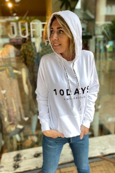 10 Days The hoodie  White 21-851-9900