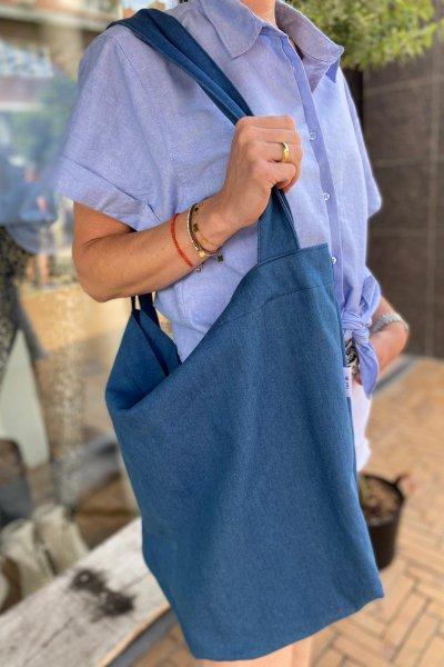 Attic local bag blue