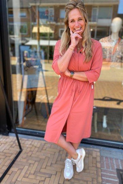 Penn & Ink jurk cinnebar