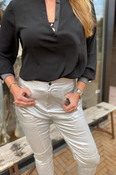 10 Days flowy blouse Zwart - 20-401-0204